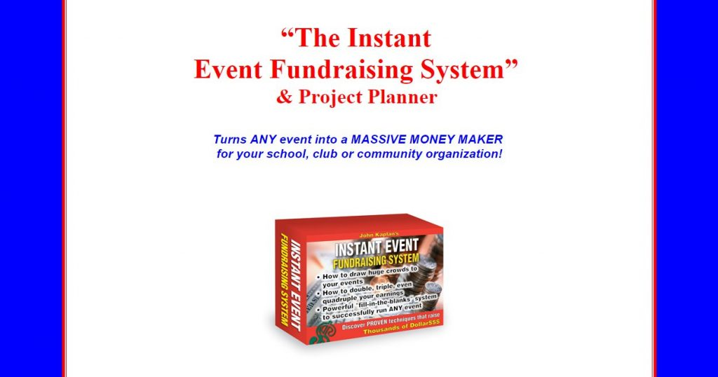 chrome 7. 5. 2016 , 0:25:37 John Kaplan presents: INSTANT EVENT FUNDRAISING SYSTEM - Google Chrome